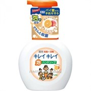 Жидкое мыло для рук Lion Kirei Kirei с ароматом мандарина, флакон-дозатор, 250 мл фото