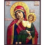 Резные иконы Отрада и Утешение Богородица, икона, резьба по дереву Высота иконы 32 см фото