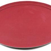 Поднос прорезиненный овальный 680х45 мм бордовый [2700CT Dark red] фото