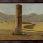 Картина Вид из Помпеи, 1873, Ниттис, Джузеппе Де фото