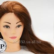 Манекен для парикмахеров 55-60 см. 100% натуральных волос фото