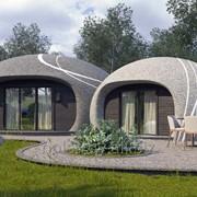 Монолитный сферический дом фото
