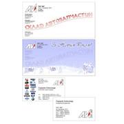 Разработка корпоративного стиля в объеме: визитка, бланк, конверт фото