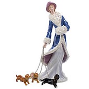 Статуэтка Дама с собаками 10х22х9см. арт.CMS-32/5 Pavone фото