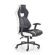 Кресло компьютерное Halmar TORANO (черный/белый) фото