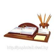 Дер. набор письменный «Офис-менеджер» орех фото