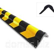 Защита угловая резиновая стен и колонн скругленая 800*120*20мм фото