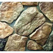 Камень декоративный облицовочный «Деревенский бут» -Рыже-коричневый с графитом фото