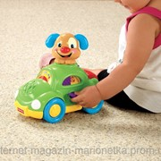 Fisher Price Машина Умного щенка, Laugh and Learn Puppy's Learning Car фото