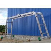 Лестница алюминиевая шарнирная (4*5) Т455 фото