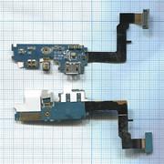 Разъем Micro USB для Samsung i9100 (плата с системным разъемом, микрофоном и шлейфом) фото