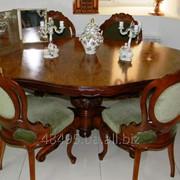 Винтажный столовый гарнитур:стол со стульями.Барокко фото