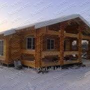 Дома деревянные и коттеджи из двойного бруса фото