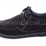 Туфли мужские KADAR чёрного цвета 027 фото