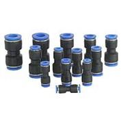 Пластиковый фитинг PG 8мм-4мм фото