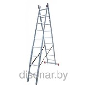 Универсальная алюминиевая двухсекционная лестница 18 ступеней Dubilo KRAUSE 120571 фото