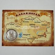 Изделия сувенирные Монета подарочная с картой Казахстана фото