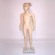 Манекен для одежды детский девочка, ростовой телесный натуралистический. CN-5 фото