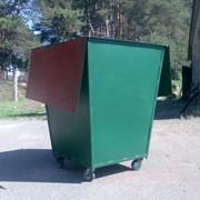 Мусорные контейнеры и баки для мусора металлические фото