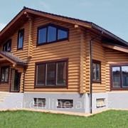 Загородный дом из дерева 243 м² фото