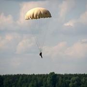 Первый прыжок с круглым парашютом фото