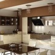 Кухонный гарнитур двухцветный фото