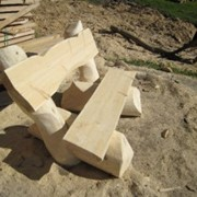 Рубленная в ручную садовая мебель, мебель для отдыха фото
