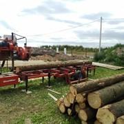 Распиловка древесины с выездом к заказчику фото
