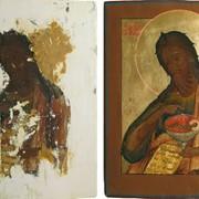Реставрация икон. Восстановление икон с большими повреждениями. фото