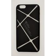 Чехол на Айфон 6/6s Cococ приятный Пластик Линии Матовый Черный фото