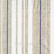 Салфетка для декупажа Серые полосы с голубым фото
