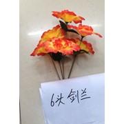 Цветы искусственные 6 цветков гладиолуса 0238A-14 фото