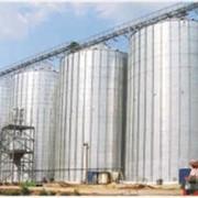 Зернохранилище из вентилируемых силосов фото