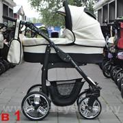 Коляска детская модульная 2/3 в 1 Bogus Dino Black Bezh фото