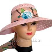 Шляпа капор с лентой 23163 фото