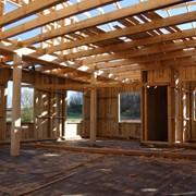 Щитовые дома, устанавливаемые на готовый лёгкий фундамент фото