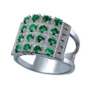 Кольцо серебряное К010 фото