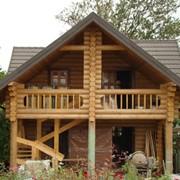 Дома , бани, из оцилиндрованного бревна диаметром от 180 мм. до 400 мм. (лиственница, сосна, ель) фото