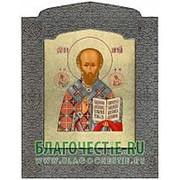 Мастерская церковной шелкографии Николай Чудотворец, святитель, икона под серебро Высота иконы 23 см фото