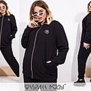 Спортивный костюм женский больших размеров (4 цвета) НВ/-4148/2 - Черный фото
