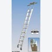 Алюминиевая лестница для стеллажей, со ступеньками 10 шт для Тобразной шины Stabilo KRAUSE 815651 фото