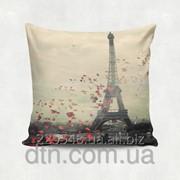 Подушка декоративная с принтом Париж фото