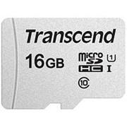 Карта памяти микро SDHC 16 Гб класс 10 UHS-I 300S - Transcend - без адаптера фото