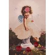 """Набор для вышивания бисером """"Ангелочек с голубями"""" FLF-015 фото"""