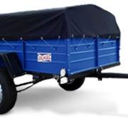 Автомобильные прицепы Кремень+ . Производство прицепов в Кременчуге. Допускается установка до 3-х ярусов бортов и удлинителя дышла Е=2000 мм для перевозки объемных и длинномерных грузов. фото