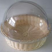 Хлебница плетеная с акриловой крышкой фото
