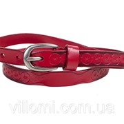 Женский узкий кожаный ремень ETERNO E8026-red фото