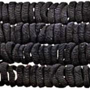 Резинка 359634 BBox тканая для волос d=2,5 см цвет черный уп.~80 шт. ( цена за 1 уп.) фото