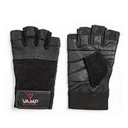 Перчатки для пауэрлифтинга VAMP RE-530 BLACK, M фото