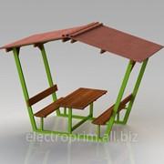 Беседка Модель П11 Садово-парковая мебель Деревянные беседки фото
